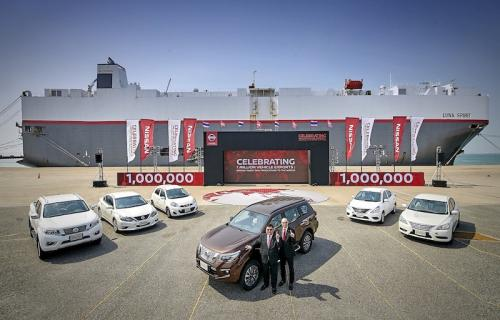 1. Nissan celebrates one million vehicle exports from Thailand